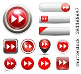 fast forward button. | Shutterstock .eps vector #261168647