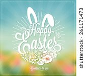 Beautiful Easter Typographical...