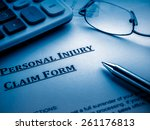personal injury claim form | Shutterstock . vector #261176813