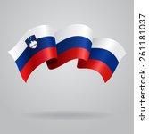 slovenian waving flag. vector... | Shutterstock .eps vector #261181037