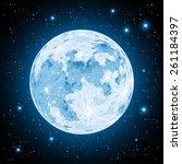 moon | Shutterstock .eps vector #261184397