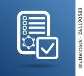 chemical tubes vector icon test ... | Shutterstock .eps vector #261190583