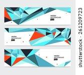 abstract header set. vector... | Shutterstock .eps vector #261209723