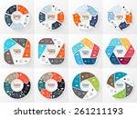vector circle infographics set. ...   Shutterstock .eps vector #261211193