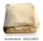 old books  isolated on white | Shutterstock . vector #261213827