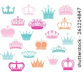 crown silhouette princess crown  | Shutterstock .eps vector #261214847