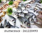 Fish In Ice   Market   Seabass...