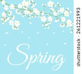 card with spring flowers on... | Shutterstock . vector #261221993