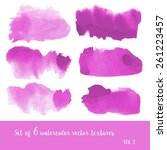 set of watercolor strokes and... | Shutterstock .eps vector #261223457