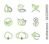 spring simple vector icon set   ... | Shutterstock .eps vector #261230453