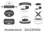 bakery set | Shutterstock .eps vector #261239303