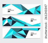 abstract header set  vector...   Shutterstock .eps vector #261243347