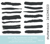 set of  ink strokes | Shutterstock .eps vector #261244223