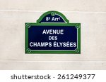 The Avenue Des Champs Elysees...