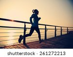 healthy lifestyle sports woman... | Shutterstock . vector #261272213