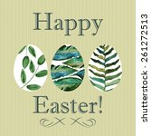 Happy Easter Card With Hand...