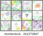 set of 12 creative universal... | Shutterstock .eps vector #261272867