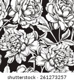 seamless pattern peony flower... | Shutterstock .eps vector #261273257