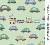seamles pattern with little... | Shutterstock .eps vector #261274463
