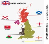 united kingdom classify by each ...   Shutterstock .eps vector #261288203