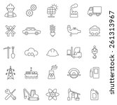 industrial line icon set | Shutterstock .eps vector #261313967