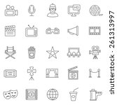 movie line icons set.vector | Shutterstock .eps vector #261313997