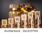 stack of coins and the word... | Shutterstock . vector #261319703