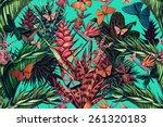 beautiful vintage seamless... | Shutterstock . vector #261320183