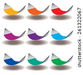 a rainbow of nine hammocks for... | Shutterstock .eps vector #261322067
