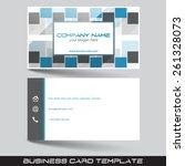 business card template in flat... | Shutterstock .eps vector #261328073