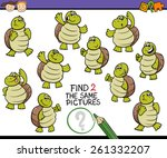 cartoon illustration of finding ... | Shutterstock . vector #261332207