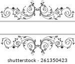 swirls for text   Shutterstock .eps vector #261350423