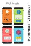 flat design ui ux mobile...