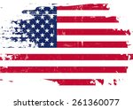 scratched us flag. an american... | Shutterstock .eps vector #261360077