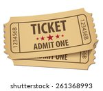 cinema ticket. vector... | Shutterstock .eps vector #261368993