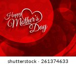 beautiful red color vector... | Shutterstock .eps vector #261374633