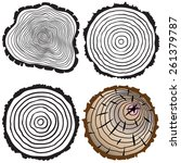 vector tree rings background... | Shutterstock .eps vector #261379787