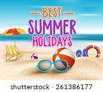 Summer Holidays In Beach...