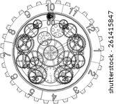 gears mechanism   Shutterstock .eps vector #261415847