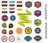 promotional badges and sale tags | Shutterstock .eps vector #261420713