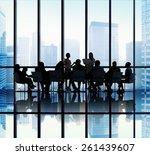 business people meeting... | Shutterstock . vector #261439607