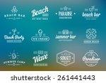 Set Of Vector Beach Sea Bar...