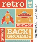 retro vector background image... | Shutterstock .eps vector #261443387