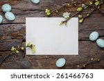 rustic easter background with... | Shutterstock . vector #261466763