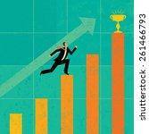 striving for higher profits a... | Shutterstock .eps vector #261466793