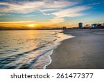 sunset over the pacific ocean ... | Shutterstock . vector #261477377