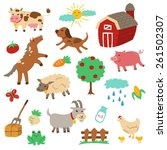 farm animals | Shutterstock . vector #261502307