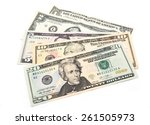 dollar bills | Shutterstock . vector #261505973