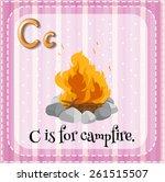 flashcard letter c is for... | Shutterstock .eps vector #261515507