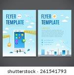 vector template design  flyer ... | Shutterstock .eps vector #261541793